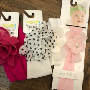 Other - 4 Baby Bling & Capelli Bows from Bloomingdales